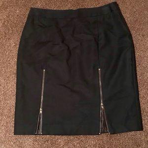 Worthington Black Stretch Pencil Skirt Size 8